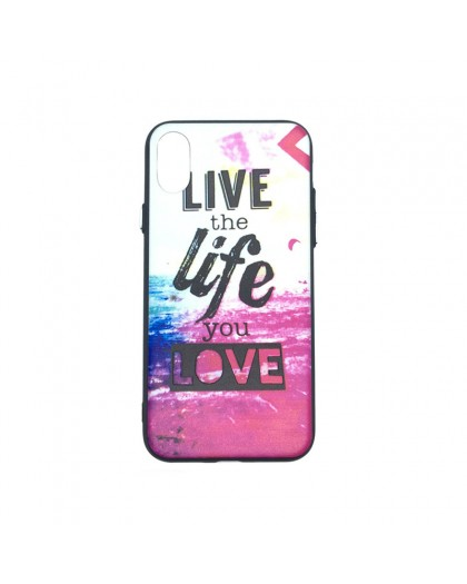 Life Quote design TPU-Hülle iPhone XS / X