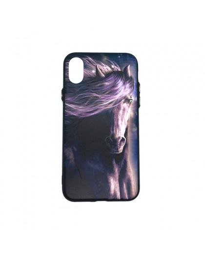 3D Print Paard TPU hoesje Voor iPhone XS / X
