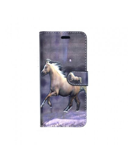 3D Horse Print Bookcase Samsung Galaxy S9