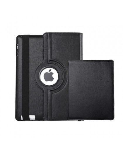 Black 360 Rotating Tablet Case For the iPad 2 / 3 / 4