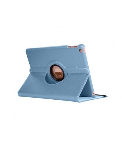 Lichtblauwe 360 Draaibare Tablethoes Voor de iPad 2018 / 2017