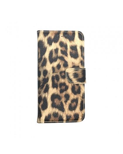 Leopard Print Wallet Case für das Galaxy A7 2018