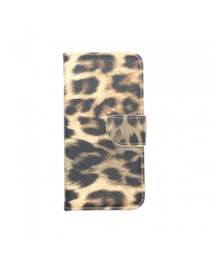 Leopard Print Wallet Case Cover for Galaxy A6 2018