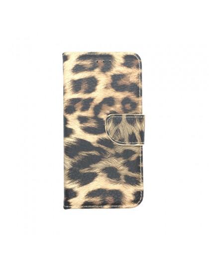 Leopard Print Wallet Case für das Galaxy A6 2018