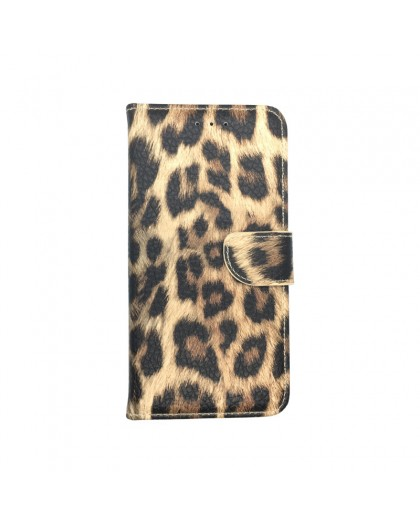 Leopard Print Wallet Case Cover for Galaxy S9 Plus