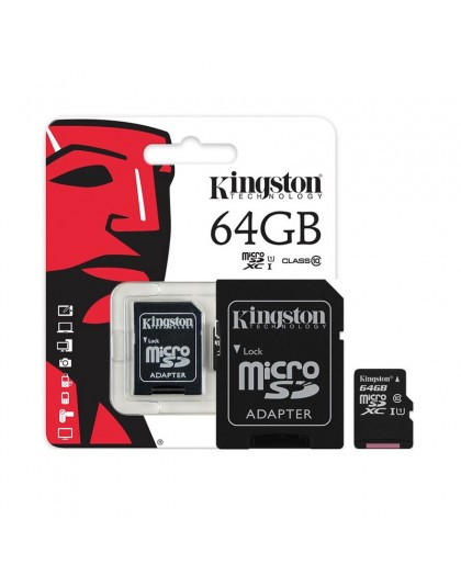 Kingston Micro SDHC-kaart 64 GB Klasse 10