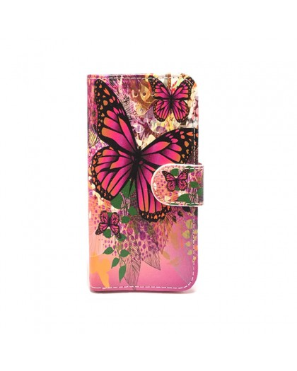 Wallet Case Butterfly Print Samsung Galaxy A5 (2018)
