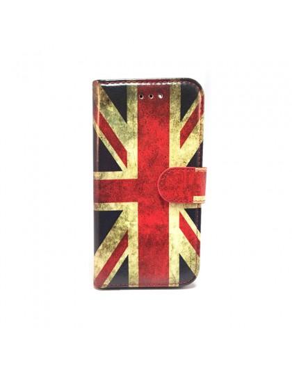 Vintage Englische Flagge TPU-Büchehülle Samsung Galaxy A5 (2018)