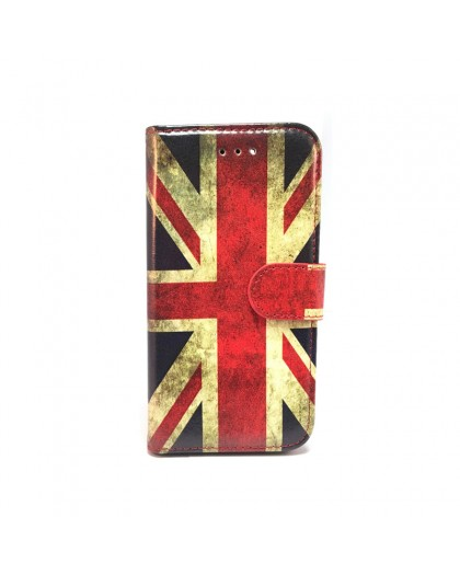 Vintage English Flag TPU Book Case Samsung Galaxy A5 (2018)