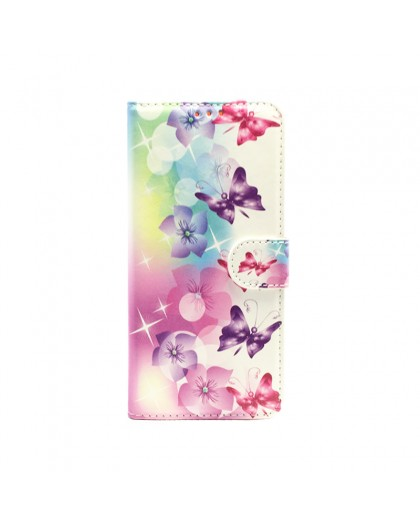 Butterfly / Flower Print Wallet Case Samsung Galaxy A5 (2018)