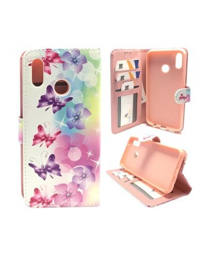 Butterfly / Flower Print Wallet Case Huawei P20 Lite