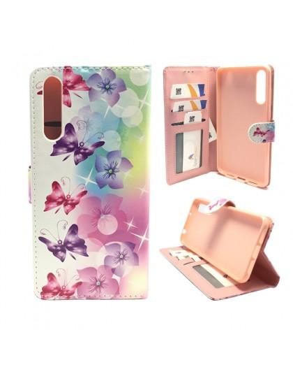 Vlinder/Bloem Print Portemonnee Hoesje Huawei P20 Pro