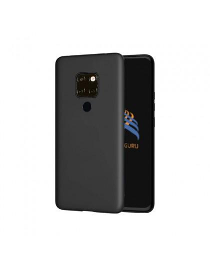 Einfarbig schwarz TPU Hülle Huawei Mate 20
