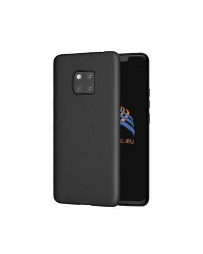 Einfarbig schwarz TPU Hülle Huawei Mate 20 Pro