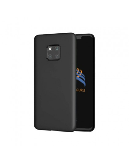 Solid Zwart Color TPU Case Huawei Mate 20 Pro