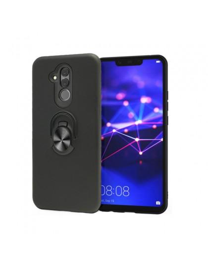 Magnetring Hülle für Huawei Mate 20 Lite Schwarz