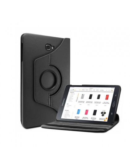 Black 360 Rotating Tablet Case For Samsung Galaxy Tab A 10.1 (2016)