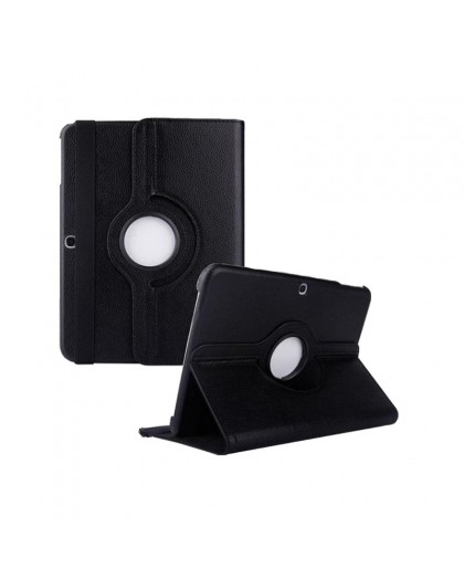 Black 360 Rotating Tablet Case For Samsung Galaxy Tab 4 10.1