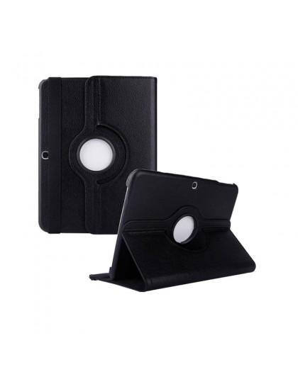 Black 360 Rotating Tablet Case For Samsung Galaxy Tab 4 10.1