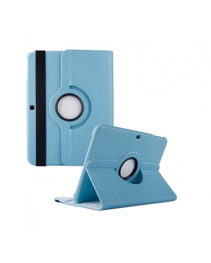 Light Blue 360 Rotating Tablet Case For Samsung Galaxy Tab 4 10.1