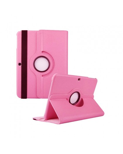 Pink 360 Rotating Tablet Case For Samsung Galaxy Tab 4 10.1