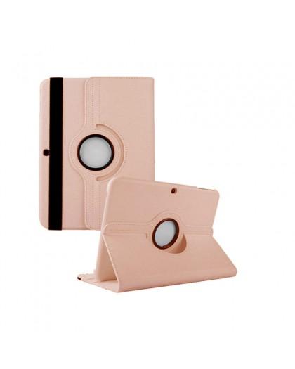 Rose Goud 360 Draaibare Tablethoes Voor Samsung Galaxy Tab 4 10.1