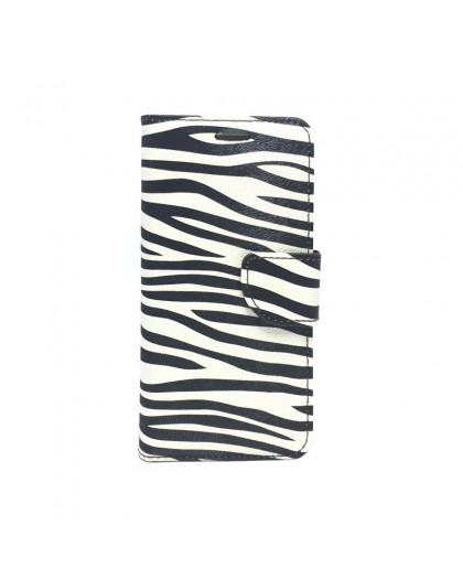 Zebra Print Book Cover Samsung Galaxy S7 Edge