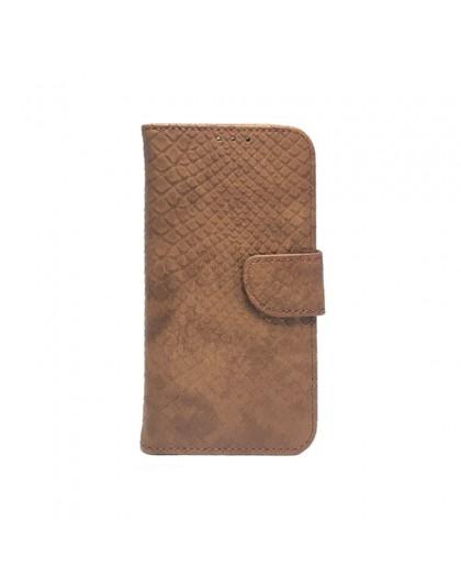 Skalen Design Braun Book-Hülle für Samsung Galaxy S7