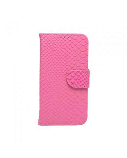 Schubben Design Roze Boekhoesje Voor Samsung Galaxy S7