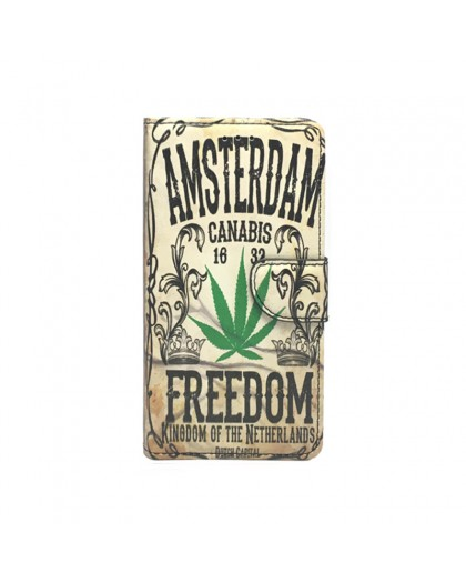 Amsterdam Cannabis Book Case For Huawei P9 Lite
