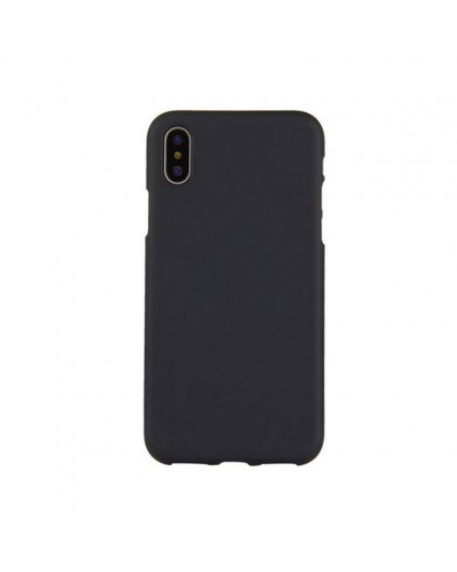 Solid Color TPU Case iPhone XS MAX - Schwarz