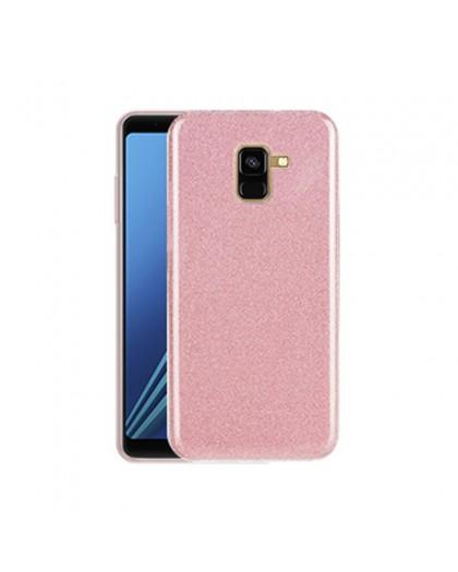 Pink Glitter TPU Case Samsung Galaxy A8 (2018)