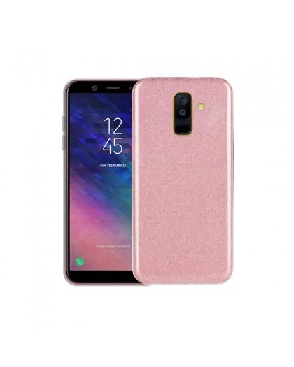 Roze Glitter TPU Hoesje Samsung Galaxy A6 Plus (2018)