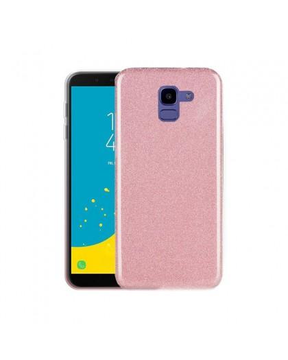 Roze Glitter TPU Hoesje Samsung Galaxy J6 (2018)