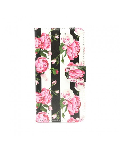 Vintage Roses Luxe TPU Book Case Samsung Galaxy A7 (2018)