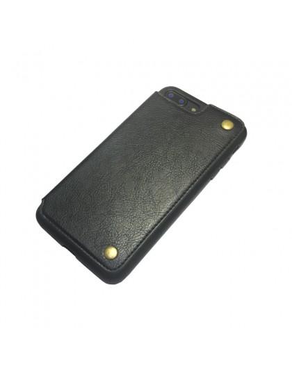 Gianni iPhone 8 Plus / 7 Plus Card Series TPU Lederen Case Zwart