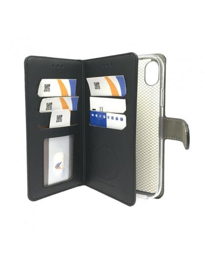 Schwarz TPU Wallet Case iPhone XR