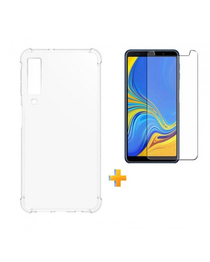 Anti Burst Case + Displayschutzfolie Samsung Galaxy A7 (2018)