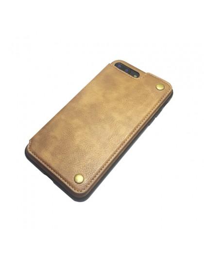 Gianni iPhone 8 Plus / 7 Plus Card Series TPU Lederen Case Bruin