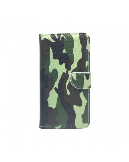 Army Camouflage Green TPU Book Case Samsung Galaxy A7 (2018)