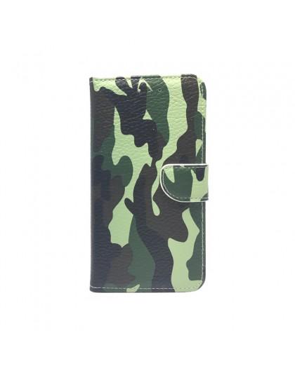 Army Camouflage Groen TPU Bookcase Samsung Galaxy A7 (2018)