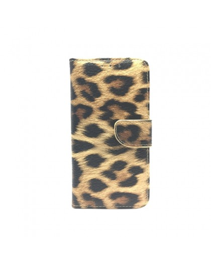 Leopard Print Wallet Case Cover for iPhone Xr