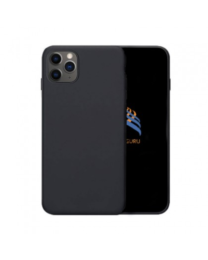 Solid Zwart Color TPU Case iPhone 11 Pro Max