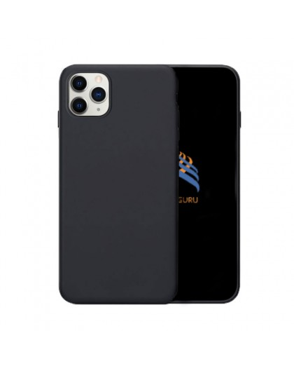 Solid Zwart Color TPU Case iPhone 11 Pro