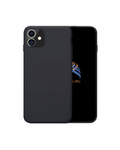Solid Black Color TPU Case iPhone 11