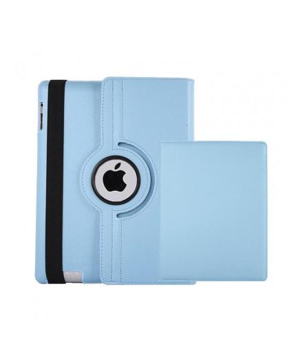 Lichtblauwe 360 Draaibare Tablethoes Voor de iPad 2