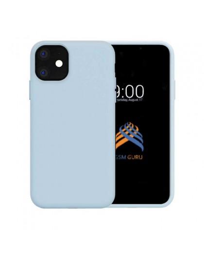 Liquid Siliconen Hoesje iPhone 11 - Lichtblauw