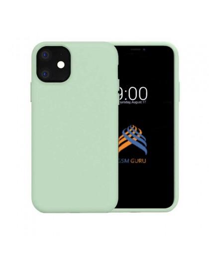 Liquid Siliconen Hoesje iPhone 11 - Mintgroen