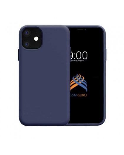 Liquid Siliconen Hoesje iPhone 11 - Marineblauw