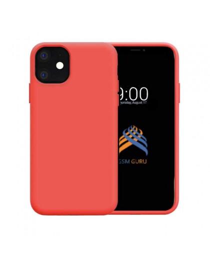 Liquid Siliconen Hoesje iPhone 11 - Rood